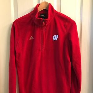 Wisconsin Badgers Long Sleeve Fleece (L, Adidas)